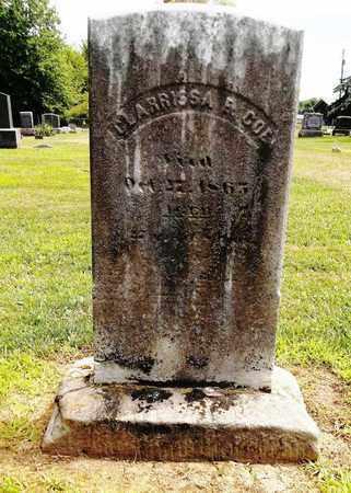COE, CLARRISSA E. - Trumbull County, Ohio | CLARRISSA E. COE - Ohio Gravestone Photos
