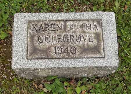COLEGROVE, KAREN RETHA - Trumbull County, Ohio | KAREN RETHA COLEGROVE - Ohio Gravestone Photos
