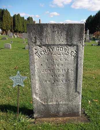 COWLES, HENRY - Trumbull County, Ohio   HENRY COWLES - Ohio Gravestone Photos