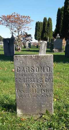 COX, CARSON D. - Trumbull County, Ohio | CARSON D. COX - Ohio Gravestone Photos