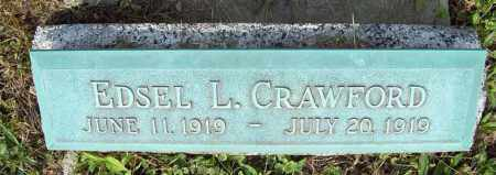 CRAWFORD, EDSEL L. - Trumbull County, Ohio | EDSEL L. CRAWFORD - Ohio Gravestone Photos