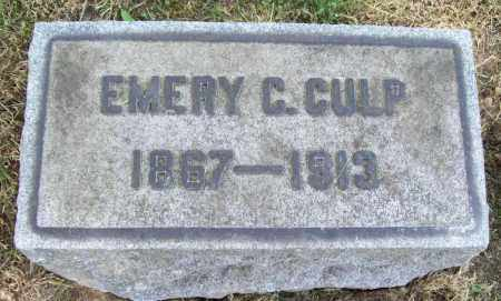 CULP, EMERY C. - Trumbull County, Ohio | EMERY C. CULP - Ohio Gravestone Photos