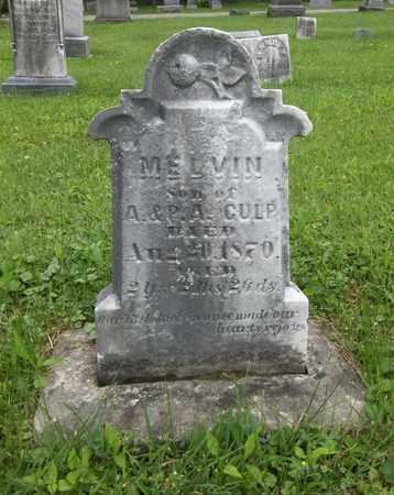 CULP, MELVIN - Trumbull County, Ohio | MELVIN CULP - Ohio Gravestone Photos