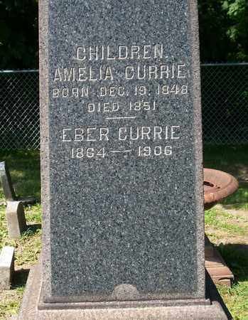 CURRIE, AMELIA - Trumbull County, Ohio | AMELIA CURRIE - Ohio Gravestone Photos