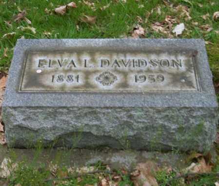 DAVIDSON, ELVA L. - Trumbull County, Ohio | ELVA L. DAVIDSON - Ohio Gravestone Photos