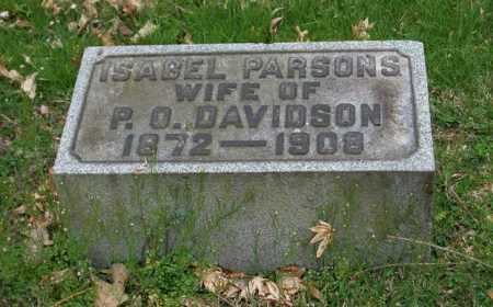 PARSONS DAVIDSON, ISABEL - Trumbull County, Ohio | ISABEL PARSONS DAVIDSON - Ohio Gravestone Photos