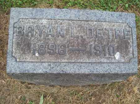 DETRE, BRYAN L. - Trumbull County, Ohio | BRYAN L. DETRE - Ohio Gravestone Photos