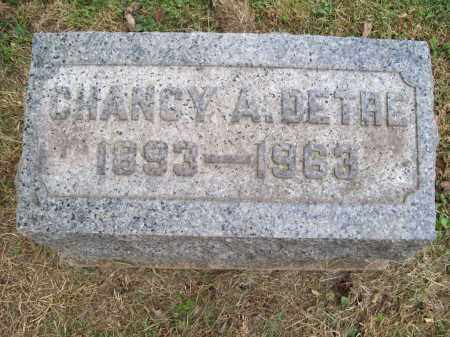 DETRE, CHANCY A. - Trumbull County, Ohio | CHANCY A. DETRE - Ohio Gravestone Photos