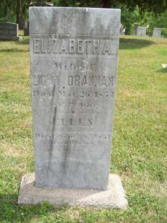 DRANNAN, ELIZABETH A. - Trumbull County, Ohio | ELIZABETH A. DRANNAN - Ohio Gravestone Photos