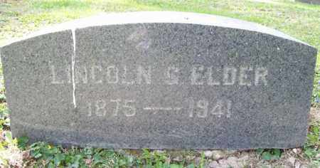 ELDER, LINCOLN G. - Trumbull County, Ohio | LINCOLN G. ELDER - Ohio Gravestone Photos