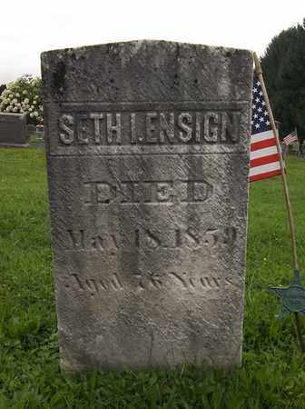 ENSIGN, SETH I. - Trumbull County, Ohio | SETH I. ENSIGN - Ohio Gravestone Photos
