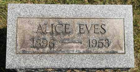 EVES, ALICE - Trumbull County, Ohio | ALICE EVES - Ohio Gravestone Photos
