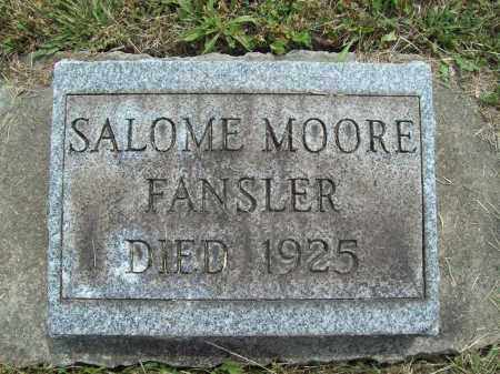 FANSLER, SALOME K. - Trumbull County, Ohio | SALOME K. FANSLER - Ohio Gravestone Photos