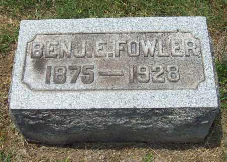 FOWLER, BENJAMIN ELLIS - Trumbull County, Ohio | BENJAMIN ELLIS FOWLER - Ohio Gravestone Photos