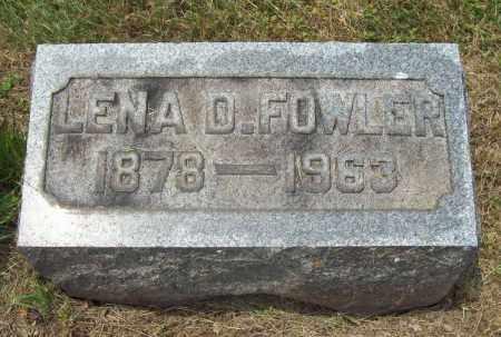 FOWLER, LENA D. - Trumbull County, Ohio | LENA D. FOWLER - Ohio Gravestone Photos