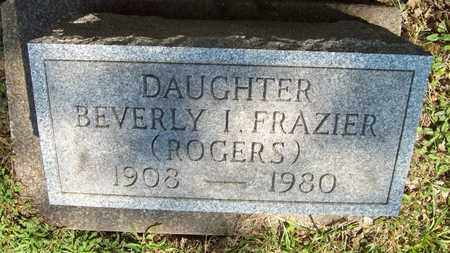 FRAZIER, BEVERLY I. - Trumbull County, Ohio | BEVERLY I. FRAZIER - Ohio Gravestone Photos
