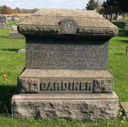 GARDINER, FRANCES E. - Trumbull County, Ohio | FRANCES E. GARDINER - Ohio Gravestone Photos