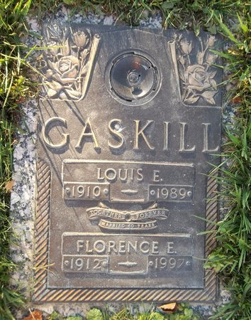 GASKILL, FLORENCE ELMIRA - Trumbull County, Ohio | FLORENCE ELMIRA GASKILL - Ohio Gravestone Photos