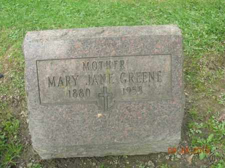 GREENE, MARY JANE - Trumbull County, Ohio | MARY JANE GREENE - Ohio Gravestone Photos