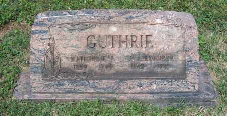 GUTHRIE, J. ALEXANDER - Trumbull County, Ohio | J. ALEXANDER GUTHRIE - Ohio Gravestone Photos