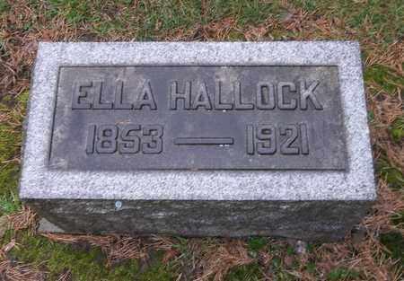 HALLOCK, ELLA - Trumbull County, Ohio | ELLA HALLOCK - Ohio Gravestone Photos