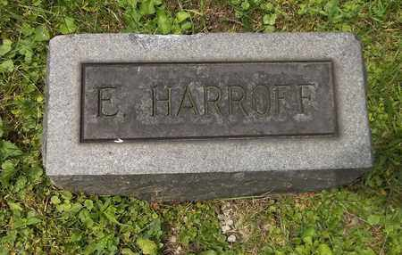 HARROFF, E. - Trumbull County, Ohio | E. HARROFF - Ohio Gravestone Photos