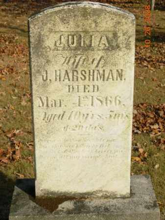 HARSHMAN, JULIA - Trumbull County, Ohio | JULIA HARSHMAN - Ohio Gravestone Photos