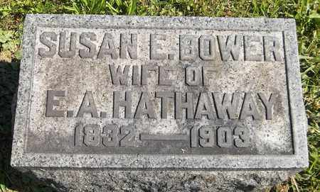 BOWER HATHAWAY, SUSAN E. - Trumbull County, Ohio | SUSAN E. BOWER HATHAWAY - Ohio Gravestone Photos