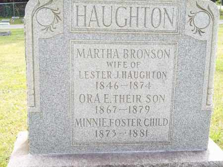 BRONSON HAUGHTON, MARTHA - Trumbull County, Ohio | MARTHA BRONSON HAUGHTON - Ohio Gravestone Photos