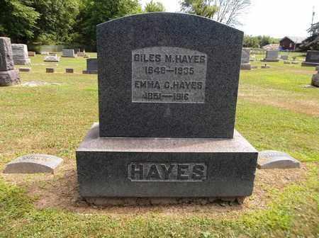 HAYES, GILES M. - Trumbull County, Ohio | GILES M. HAYES - Ohio Gravestone Photos