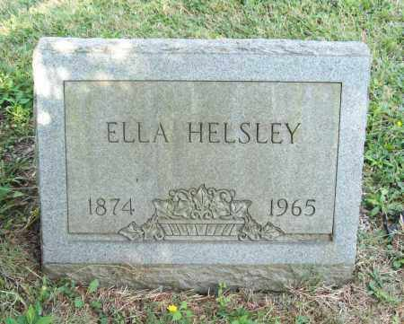 HELSLEY, ELLA - Trumbull County, Ohio | ELLA HELSLEY - Ohio Gravestone Photos