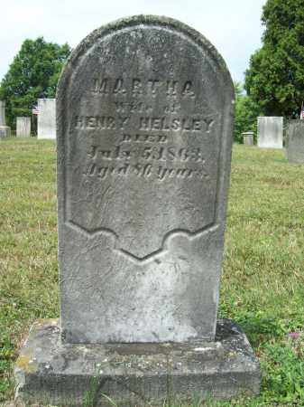 HELSLEY, MARTHA - Trumbull County, Ohio | MARTHA HELSLEY - Ohio Gravestone Photos