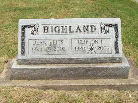 HIGHLAND, JEAN - Trumbull County, Ohio | JEAN HIGHLAND - Ohio Gravestone Photos