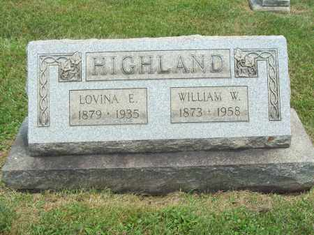 HIGHLAND, LOVINA E. - Trumbull County, Ohio | LOVINA E. HIGHLAND - Ohio Gravestone Photos
