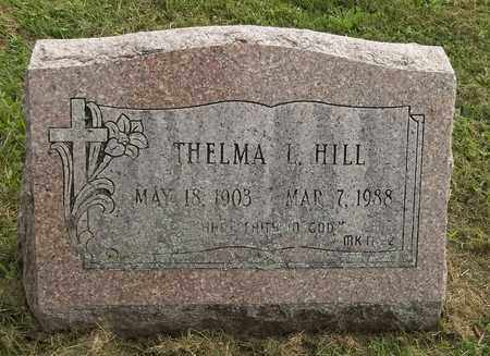 HILL, THELMA L. - Trumbull County, Ohio | THELMA L. HILL - Ohio Gravestone Photos