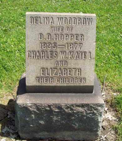 WOODROW HOPPER, DELINA E. - Trumbull County, Ohio | DELINA E. WOODROW HOPPER - Ohio Gravestone Photos