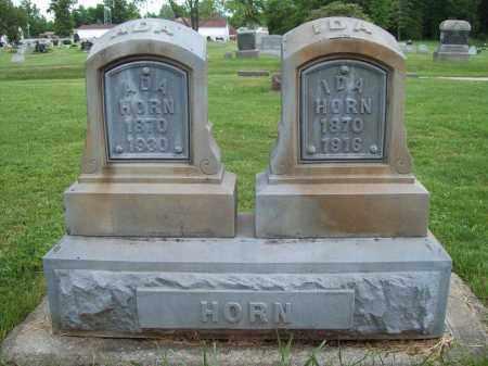 HORN, ADA - Trumbull County, Ohio | ADA HORN - Ohio Gravestone Photos