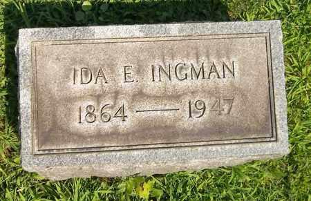 INGMAN, IDA E. - Trumbull County, Ohio | IDA E. INGMAN - Ohio Gravestone Photos