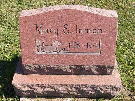 INMAN, MARY E. - Trumbull County, Ohio | MARY E. INMAN - Ohio Gravestone Photos
