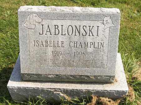 CHAMPLIN JABLONSKI, ISABELLE - Trumbull County, Ohio | ISABELLE CHAMPLIN JABLONSKI - Ohio Gravestone Photos