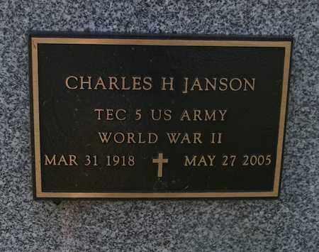 JANSON, CHARLES H. - Trumbull County, Ohio | CHARLES H. JANSON - Ohio Gravestone Photos
