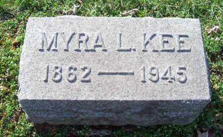 KEE, MYRA L. - Trumbull County, Ohio | MYRA L. KEE - Ohio Gravestone Photos