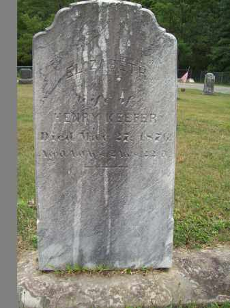 KEEFER, ELIZABETH - Trumbull County, Ohio | ELIZABETH KEEFER - Ohio Gravestone Photos