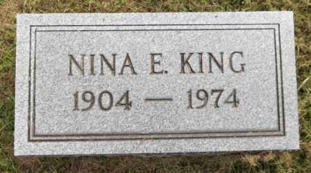 KING, NINA E. - Trumbull County, Ohio | NINA E. KING - Ohio Gravestone Photos