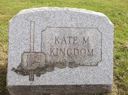 KINGDOM, KATE M. - Trumbull County, Ohio | KATE M. KINGDOM - Ohio Gravestone Photos