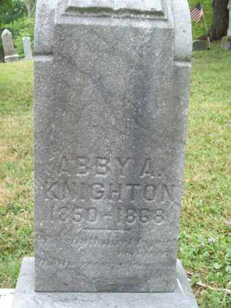 KNIGHTON, ABBY A. - Trumbull County, Ohio | ABBY A. KNIGHTON - Ohio Gravestone Photos