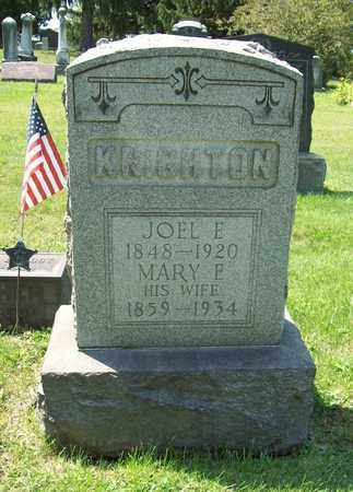 KNIGHTON, MARY E. - Trumbull County, Ohio | MARY E. KNIGHTON - Ohio Gravestone Photos