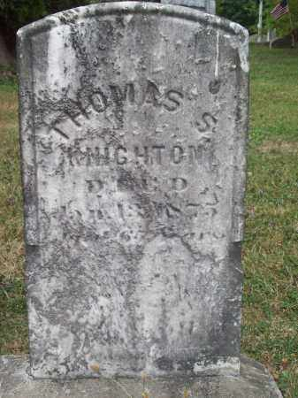 KNIGHTON, THOMAS S. - Trumbull County, Ohio | THOMAS S. KNIGHTON - Ohio Gravestone Photos