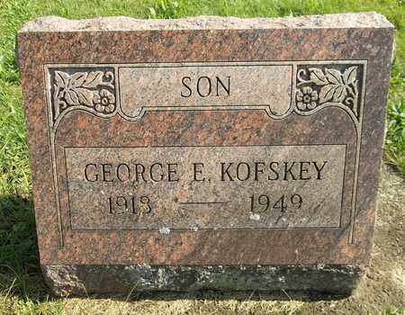 KOFSKEY, GEORGE E. - Trumbull County, Ohio | GEORGE E. KOFSKEY - Ohio Gravestone Photos