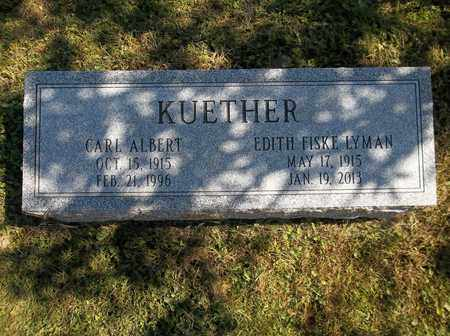 FISKE LYMAN KUETHER, EDITH - Trumbull County, Ohio | EDITH FISKE LYMAN KUETHER - Ohio Gravestone Photos